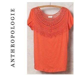 Anthropologie Meadow Rue Crochet Bib Top